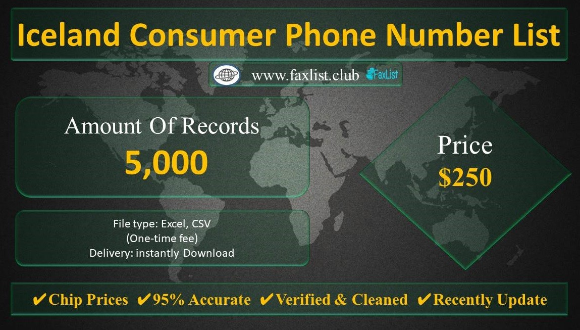 Iceland Consumer Phone Number List