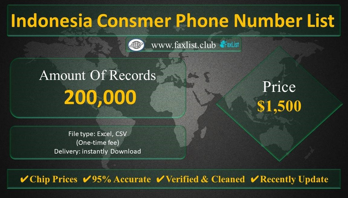 Indonesia Consmer Phone Number List