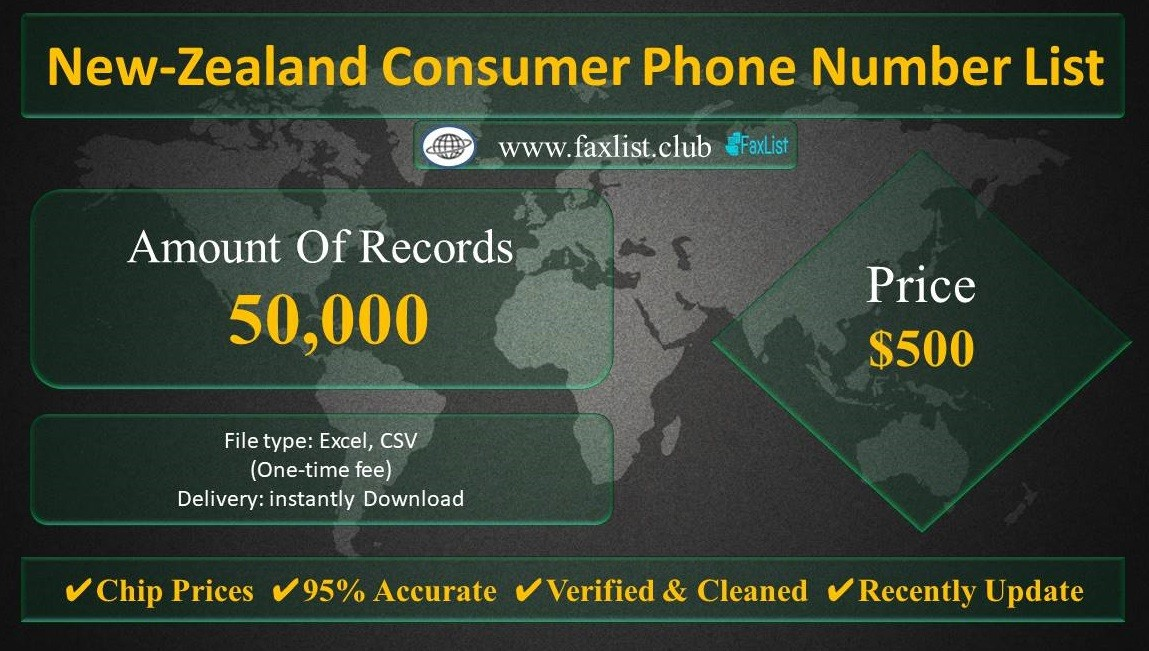 New-Zealand Consumer Phone Number List