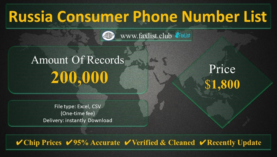 Russia Consumer Phone Number List