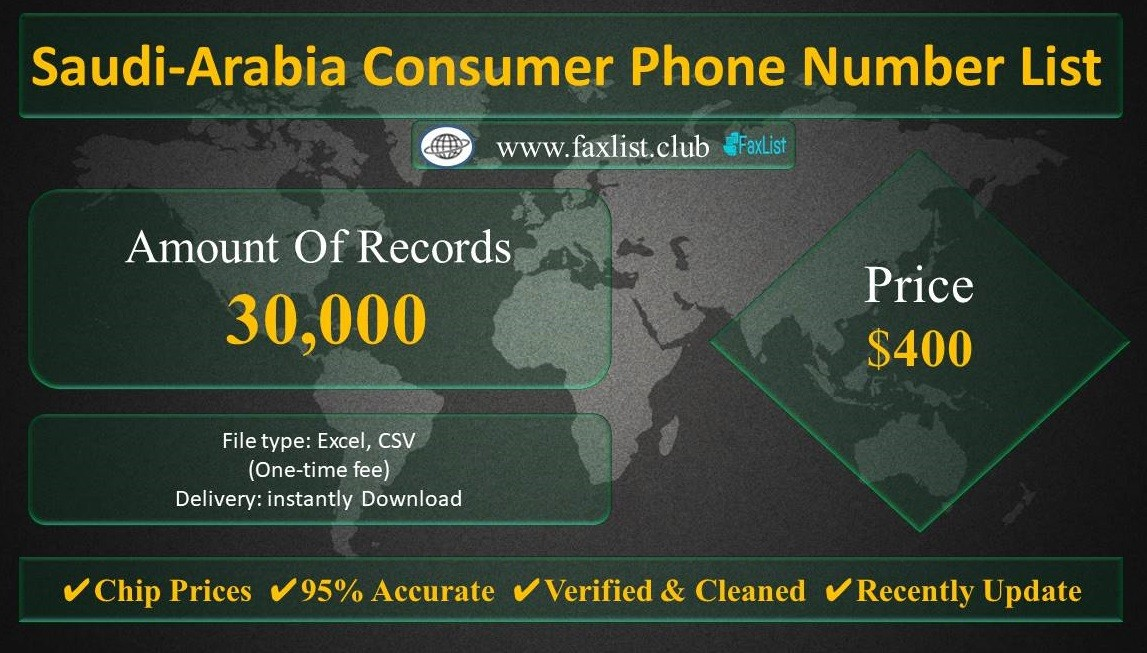 Saudi-Arabia Consumer Phone Number List